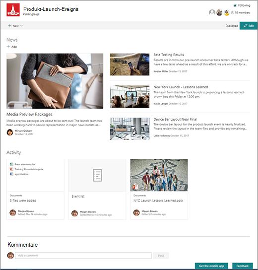 SharePoint Team Seite - innobit ag